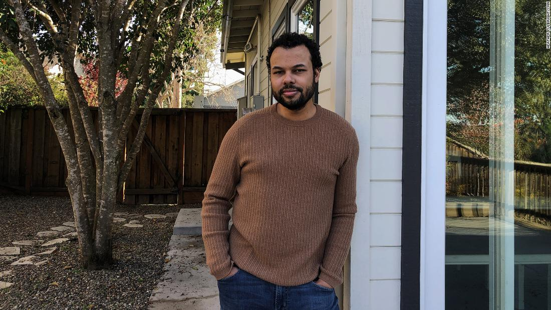 Sam Bright, chief product and experience officer at Upwork, works remotely out of his home in the Bay Area.