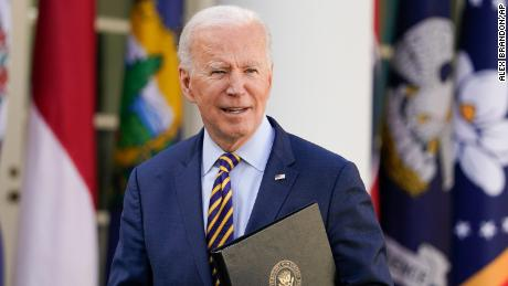 President Joe Biden looks on after speaking about the American Rescue Plan, a coronavirus relief package, in the Rose Garden of the White House, Friday, March 12, 2021, in Washington.