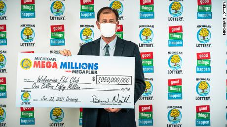 The four-member Wolverine FLL Club, an Oakland County lottery club, has claimed the largest prize in Michigan Lottery history, a $1.05 billion Mega Millions jackpot.