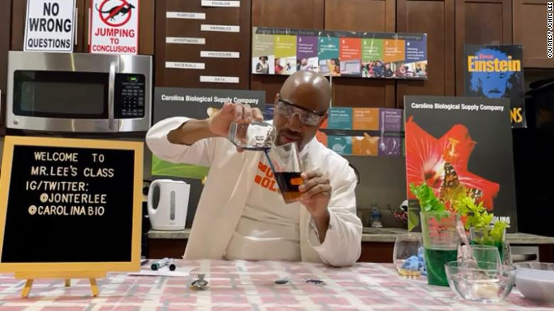 Public school teacher brings chemistry into his students' kitchens