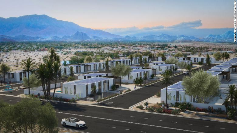 Developers plan to build 15 3D-printed houses in Rancho Mirage, California.