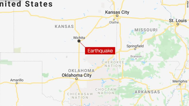 Three small earthquakes shake Wichita, Kansas, area