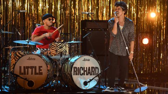 Bruno Mars and Anderson .Paak, aka Silk Sonic, team up for a Little Richard tribute.