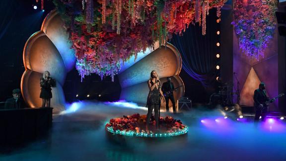 "Miranda Lambert sings ""Bluebird."" Lambert won best country album during the show."