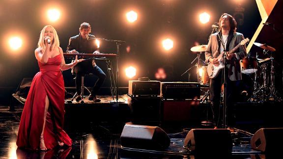 "Maren Morris and John Mayer perform ""The Bones."""