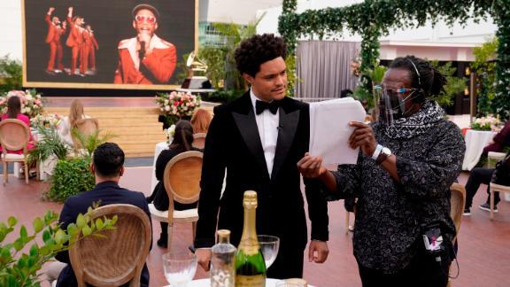 Host Trevor Noah is advised behind the scenes.