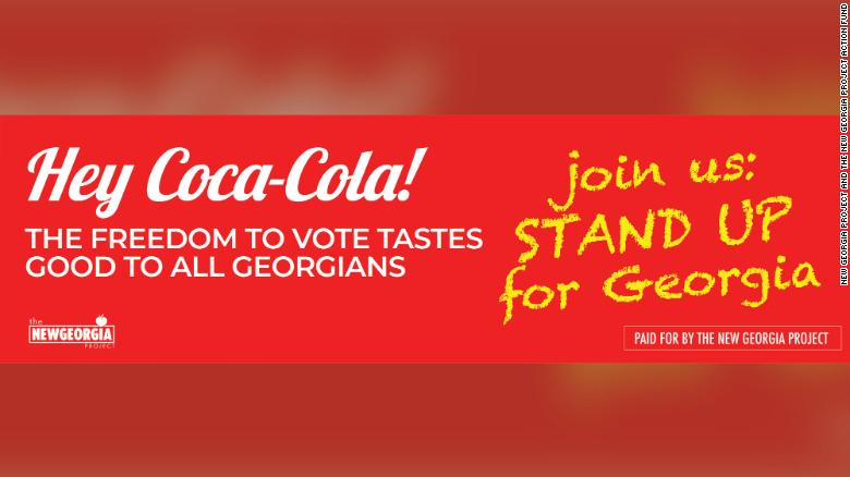 Georgia groups are lobbying Coca-Cola and other corporations over voting rights