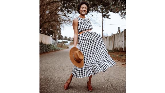 A New Day Women's Sleeveless Smocked Waist Dress