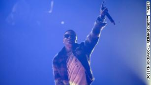 Wizkid performs at SSE Arena Wembley in London, England.