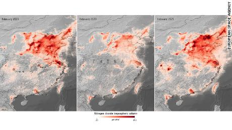 Satellite images show air pollution returning to pre-pandemic levels as restrictions loosen