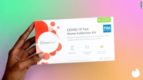 Tinder is giving away 1,000 free Covid-19 tests from Everlywell.