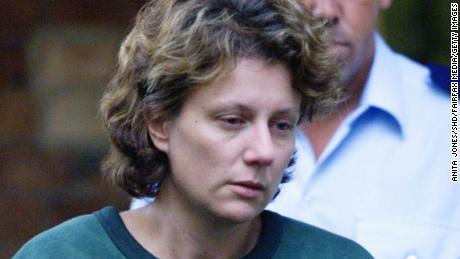 Kathleen Folbigg leaving Maitland Court after being refused bail on March 22, 2004.