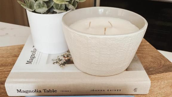 Hearth & Hand with Magnolia Zest 3-Wick Large Textured Ceramic Candle