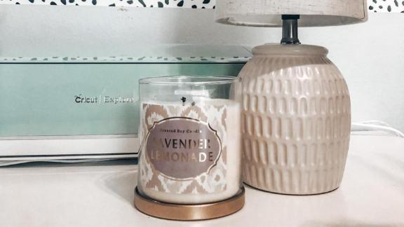 Opalhouse Lidded Glass Jar 2-Wick Candle Lavender Lemonade