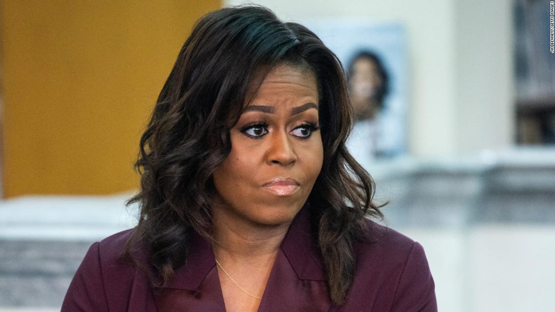 Michelle Obama says it 'wasn't a complete surprise' to hear Meghan talk of racism in the royal family