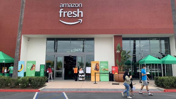 IRVINE, CA - OCTOBER 22: Amazon Fresh opened to the public in Irvine, CA on Thursday, October 22, 2020. Several more stores are planned, including in Fullerton, Whittier, Long Beach and Los Angeles. (Photo by Paul Bersebach/MediaNews Group/Orange County Register via Getty Images)