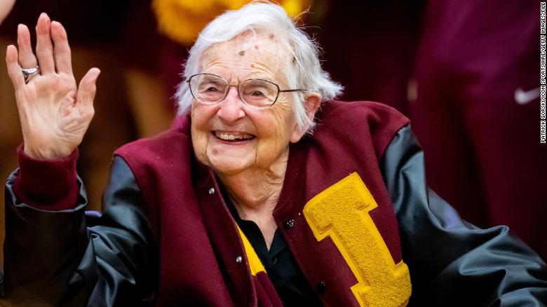 Loyola's good luck charm Sister Jean gets her March Madness ticket after being vaccinated