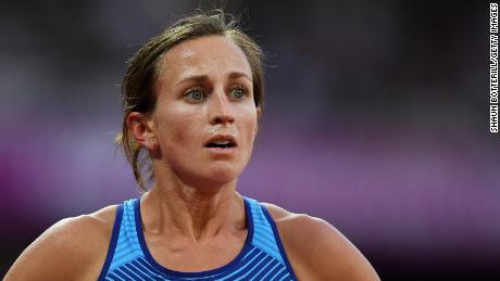Sara Vaughn competes at the 2017 World Athletics Championships in London.
