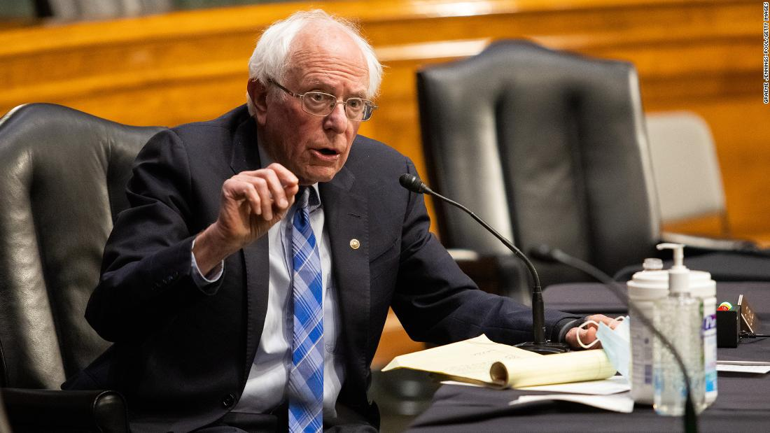 Sanders says he wants an infrastructure package with a larger price tag