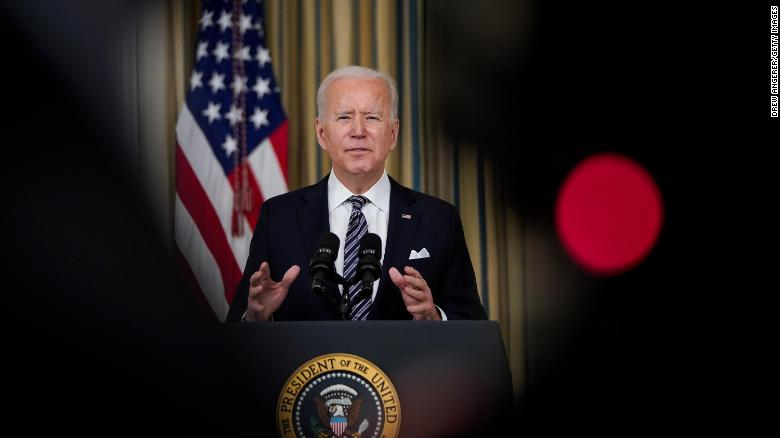 Biden speech on Covid-19 vaccination progress comes at a critical juncture
