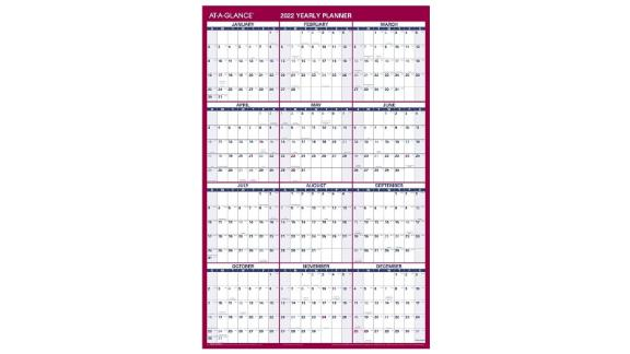 2022 Erasable Calendar