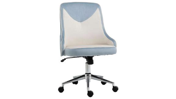 Vinsetto Velvet Fabric Leisure Chair Rocking Armless Task Chair