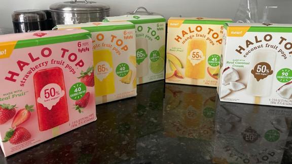 The five varieties of Halo Top Fruit Pops