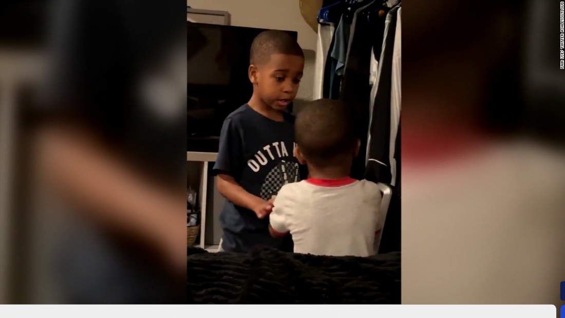 See how a 6-year-old helped his little brother calm down