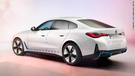 The BMW i4 will be available in versions that offer a driving range of up to 300 miles.