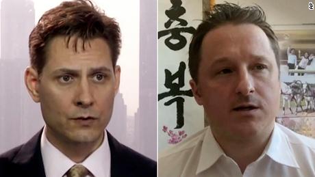 "Beijing claims that Kovrig (right), was ""stealing sensitive information and intelligence through contacts in China since 2017,"" while Spavor, is accused of providing intelligence to Kovrig."