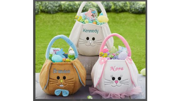 PersonalizationMall Embroidered Easter Bunny Basket