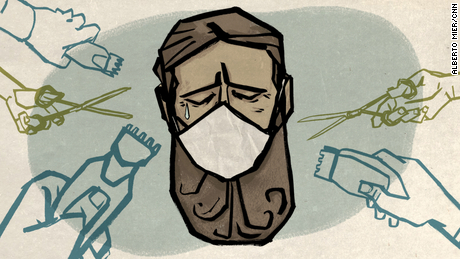 Should you shave your beard because of the pandemic? Experts have weighed in.