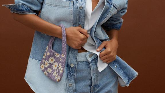 Floral Beaded Mini Bag