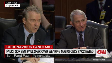 Masks are not theater, Fauci tells Sen. Rand Paul in hearing exchange