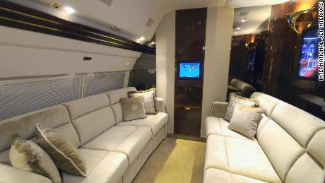 A private cabin in Trump's plane.