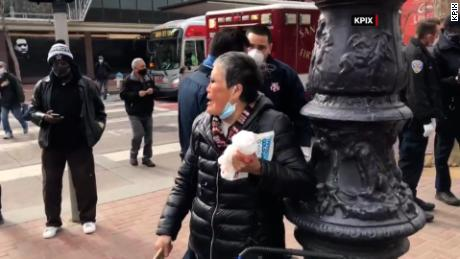 A 75-year-old Asian woman says she fought back after being attacked in San Francisco