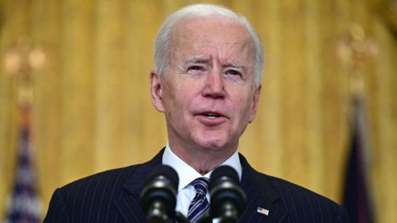 Image for Biden says US on pace to hit his administration's goal of 100 million Covid-19 vaccine shots on Friday