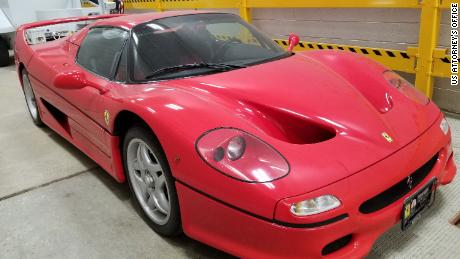 US Customs officials seized this 1996 Ferrari F50 in 2019 after it was transported into the country.