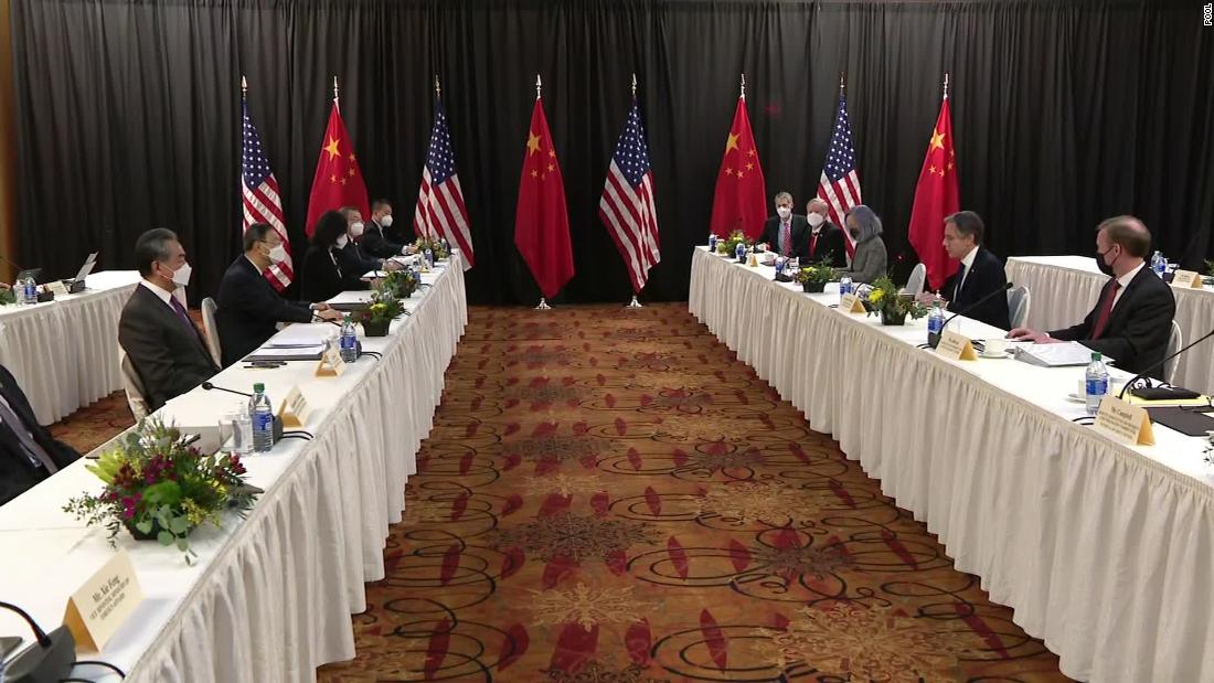 US and China trade barbs after Blinken warns of need to respect global order or face a 'more violent world'