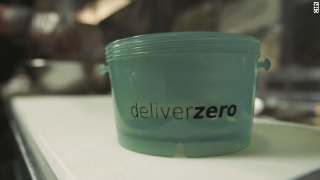 DeliverZero, a Brooklyn-based startup, is trying to put a dent in New York City's takeout waste problem with its reusable food containers and delivery app platform.