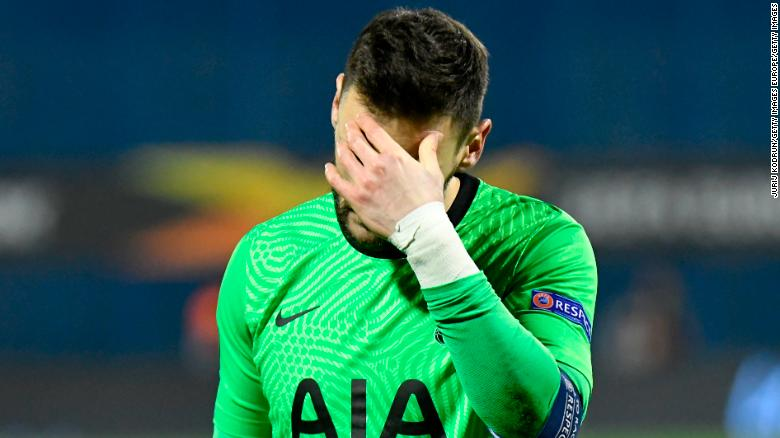 Tottenham Hotspur's Europa League exit branded a 'disgrace' by captain Hugo Lloris