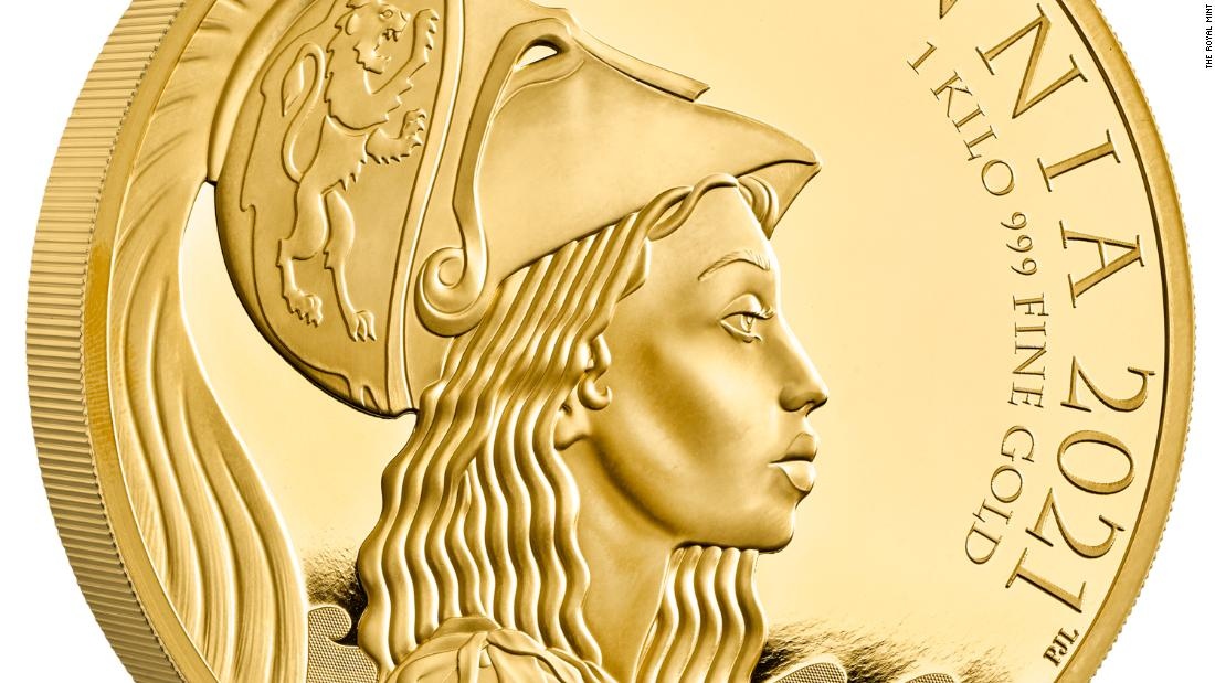 The UK's Royal Mint makes history with a new coin featuring Britannia as a woman of color