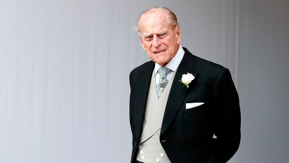 WINDSOR, ENGLAND - OCTOBER 12:  Prince Philip, Duke of Edinburgh attends the wedding of Princess Eugenie of York to Jack Brooksbank at St. George's Chapel on October 12, 2018 in Windsor, England.  (Photo by Alastair Grant - WPA Pool/Getty Images)