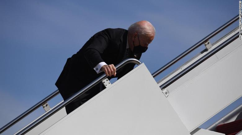 White House says Biden is '100% fine' after he tripped boarding Air Force One