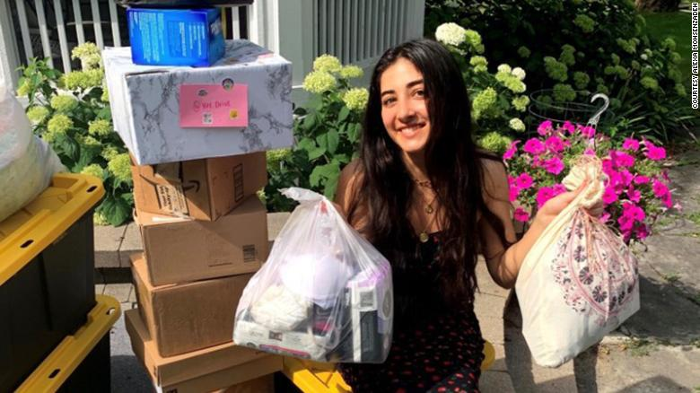 How a TikTok video helped these college students collect over 200,000 products to help fight period poverty