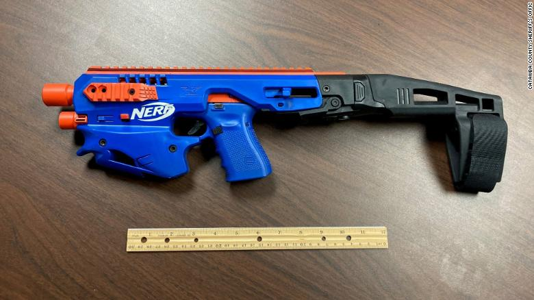 Police seize real gun disguised as Nerf toy in North Carolina drug raid