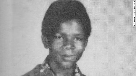 Treated yearbook photo of Michael Donald.