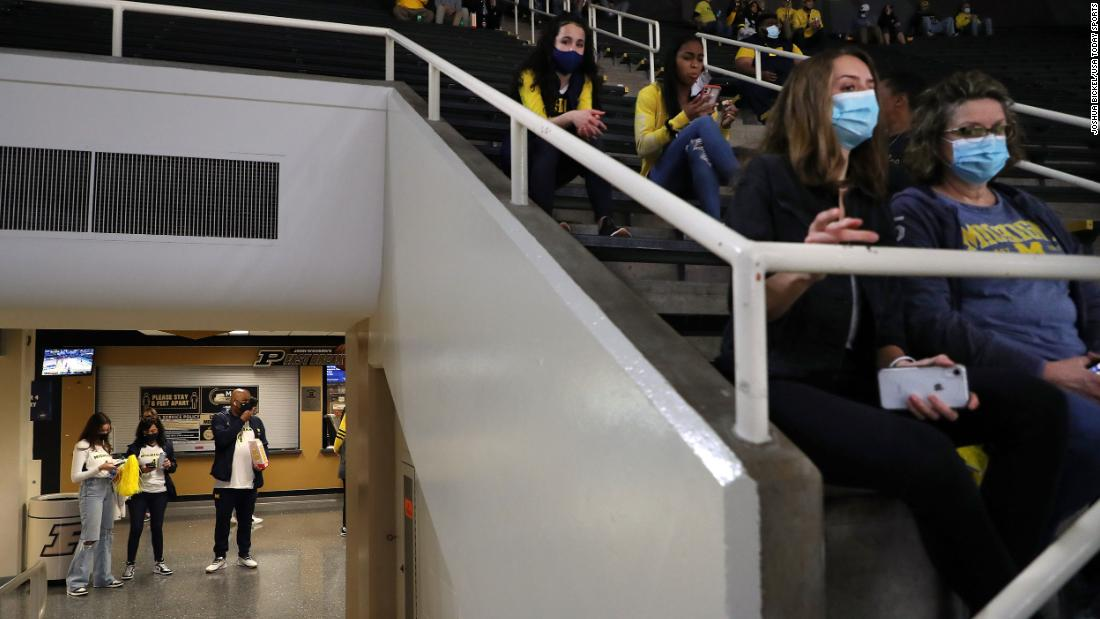Michigan fans wait for the team's opening game against Texas Southern.
