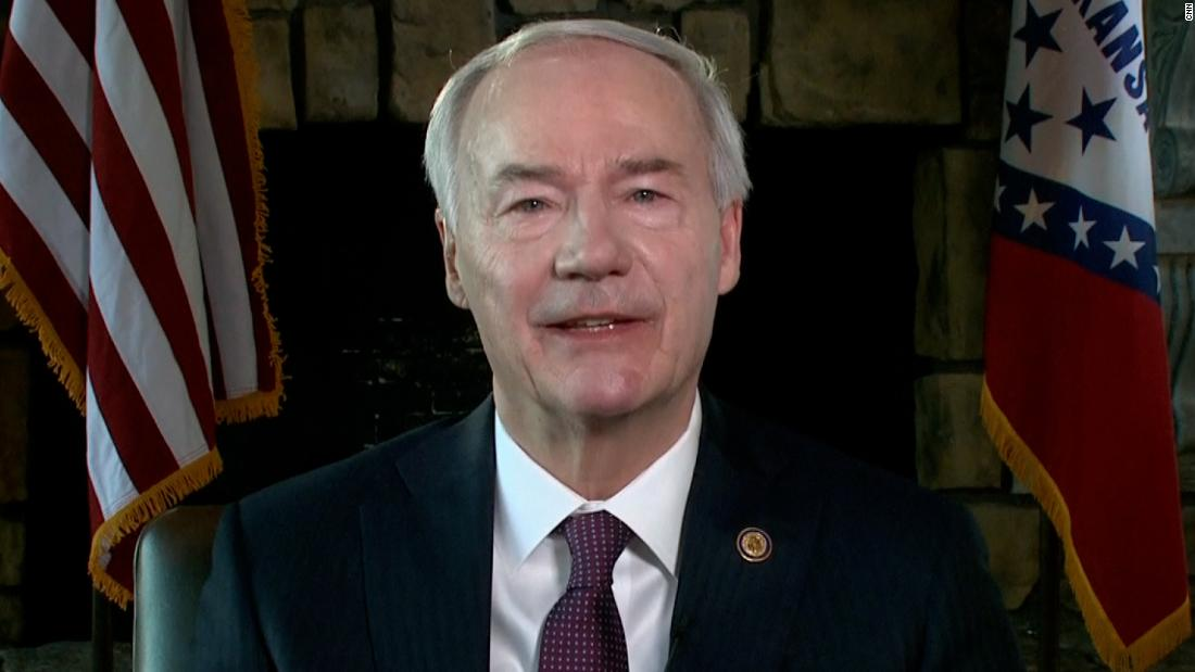 Arkansas' GOP governor says Trump's attacks on party leaders are 'divisive' and 'not helpful'