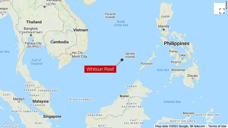 Philippines says illegal structures found on reefs near where Chinese boats swarmed